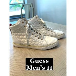 GUESS Men's Hightop Leather Sneakers Sz 11